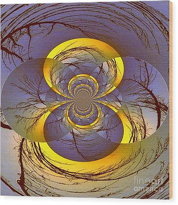 Midnight Energy Wood Print by Mj Petrucci