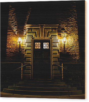 Wood Print featuring the photograph Midnight Entryway by Rhys Arithson