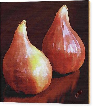 Midnight Figs Wood Print by Ben and Raisa Gertsberg