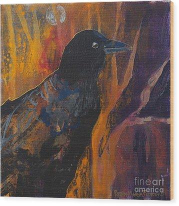 Midnight Flight Wood Print by Robin Maria Pedrero