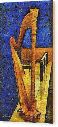 Midnight Harp Wood Print by RC DeWinter