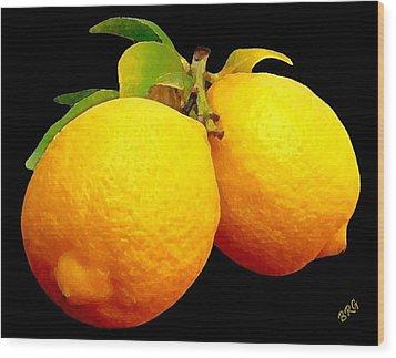 Midnight Lemons Wood Print by Ben and Raisa Gertsberg