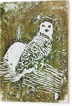 Midnight Owl Wood Print by Shabnam Nassir