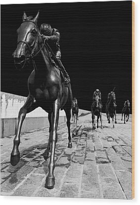 Midnight Ride Wood Print by Wendell Thompson