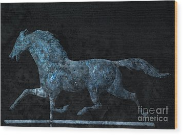 Midnight Run - Weathervane Wood Print by John Stephens