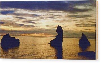 Wood Print featuring the photograph Midnight Sun by Debra Kaye McKrill