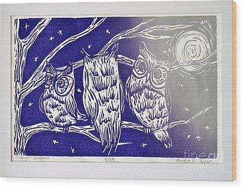Midnight Watchmen Wood Print by Kimberly Wix