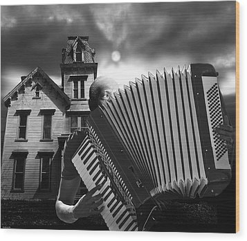 Zydeco Blues Wood Print by Larry Butterworth