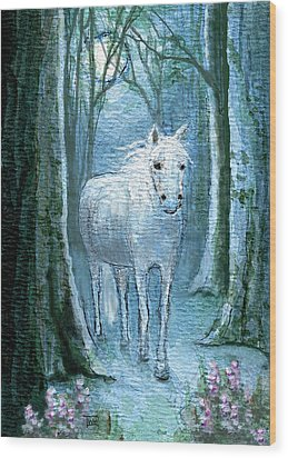 Wood Print featuring the painting Midsummer Dream by Terry Webb Harshman