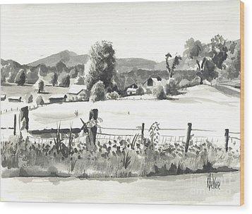 Midsummer View Out Route Jj   No I101 Wood Print by Kip DeVore