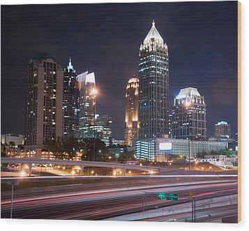 Midtown Atlanta Wood Print