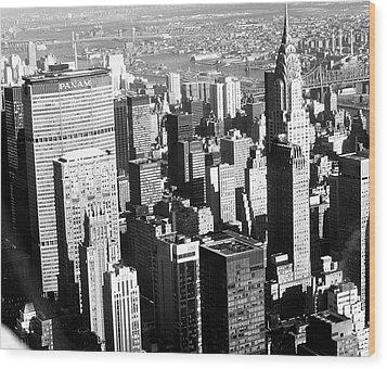 Midtown Manhattan 1972 Wood Print by Steve Archbold