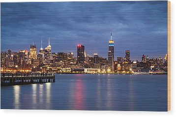 Wood Print featuring the photograph Midtown Manhattan by Mihai Andritoiu
