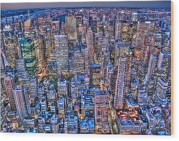 Midtown Manhattan Skyline Wood Print by Randy Aveille