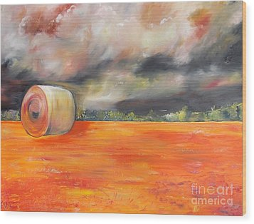 Wood Print featuring the painting Midwest Grandeure by PainterArtist FIN