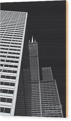Midwest Monolith Wood Print by Dan Hefle