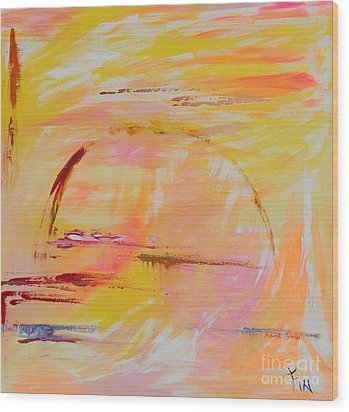 Midwest Sunrise Wood Print by PainterArtist FIN