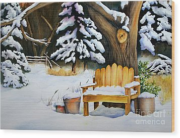 Midwest Winter Wood Print