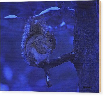 Midwinter Snack Wood Print