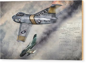 Mig Alley Wood Print by Peter Chilelli
