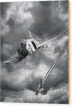Mig Killer Wood Print by Peter Chilelli