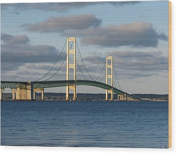 Mighty Mac In December Wood Print by Keith Stokes