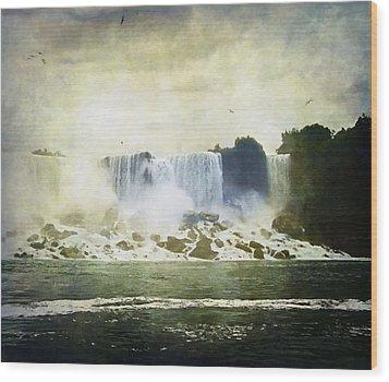 Mighty Niagara Wood Print by Lianne Schneider