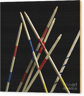 Mikado Wood Print by Bernard Jaubert