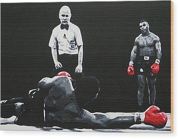 Mike Tyson 3 Wood Print