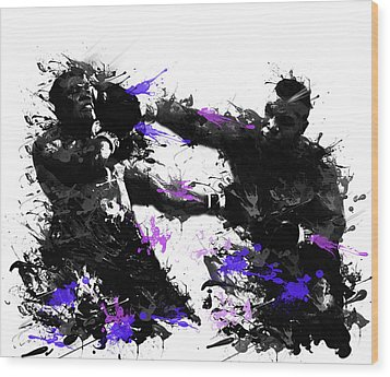 Mike Tyson Wood Print by Bekim Art