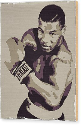 Mike Tyson Poster Art Wood Print by Florian Rodarte