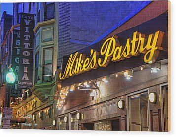 Mike's Pastry Shop - Boston Wood Print by Joann Vitali
