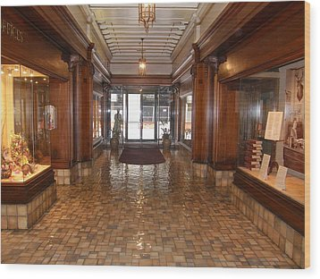 Wood Print featuring the photograph Milam Building Lobby by Antonia Citrino