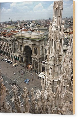Milan Cathedral Square Wood Print by Gregory Dyer