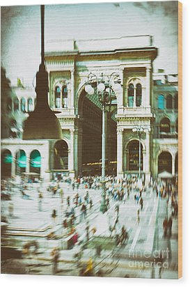 Wood Print featuring the photograph Milan Gallery by Silvia Ganora