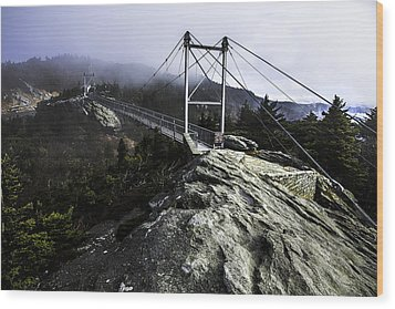 Mile High Bridge-grandfather Mountain Wood Print