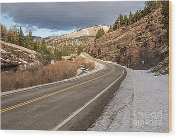 Mile One Wood Print by Sue Smith