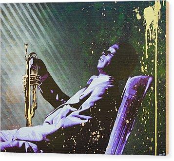 Miles Davis Wood Print by Bobby Zeik