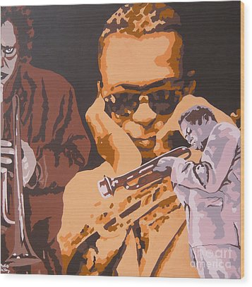 Miles Davis I Wood Print by Ronald Young