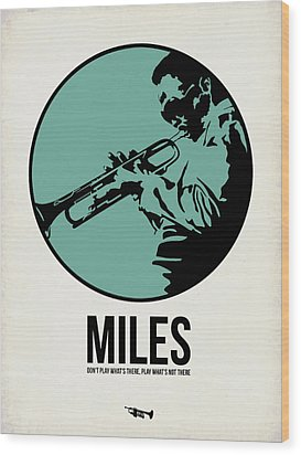 Miles Poster 1 Wood Print by Naxart Studio