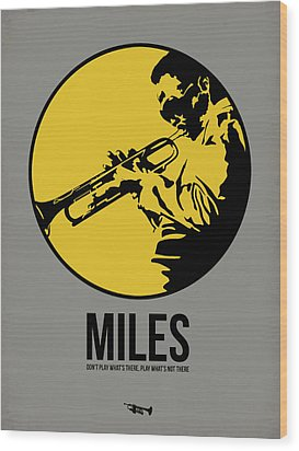 Miles Poster 3 Wood Print by Naxart Studio