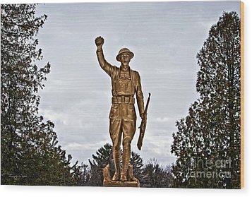 Military Soldier Memorial Wood Print by Ms Judi