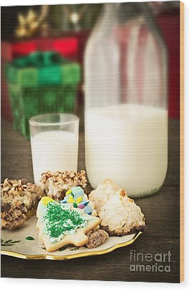 Milk And Cookies Wood Print by Edward Fielding