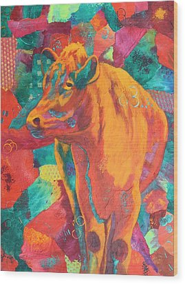 Milk Delivery Wood Print by Nancy Jolley