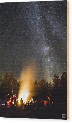 Milky Way At Flagstaff Hut Wood Print