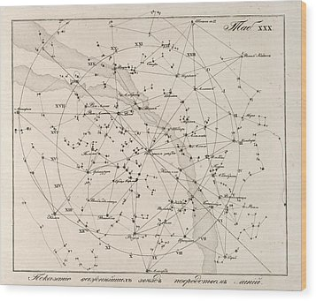 Milky Way Constellations, 1829 Wood Print by Science Photo Library