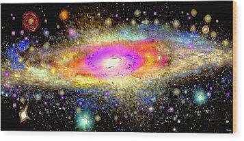 Milky Way Wood Print by Daniel Janda