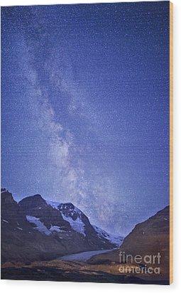 Milky Way In Jasper Wood Print by Dan Jurak