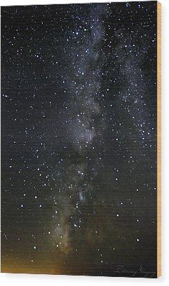 Milky Way Wood Print by Marlo Horne