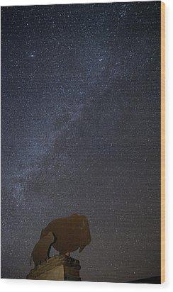 Milky Way  Wood Print by Melany Sarafis